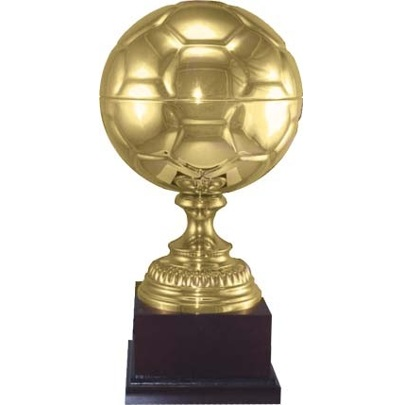 engraved prestigious soccer ball trophy personalize at