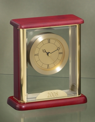 Glass Encased Gold Faced Clock