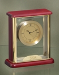 Glass Encased Gold Faced Clock 2071