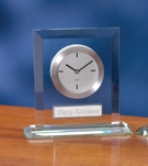 Acrylic Clock With Silver Face and Plate 2075