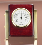Personalized Desktop Triangular Rosewood Thermometer 2167