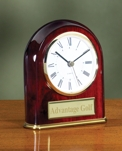 Rosewood Stained Arched Clock 2243