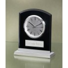 Acrylic Black Clock With Silver Accents 2390BC