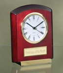 Rosewood Clock With Gold Trim 2526G