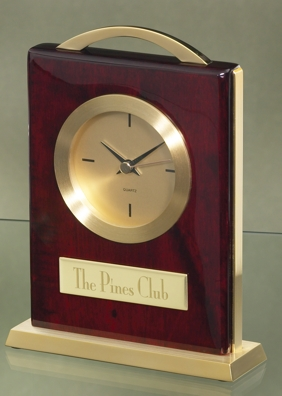 Piano Finished Clock With Gold Trim 2698