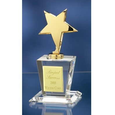 Gold Star Crystal Award 2758G