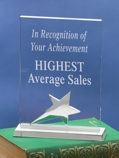 Rectangular Acrylic Award 3461C