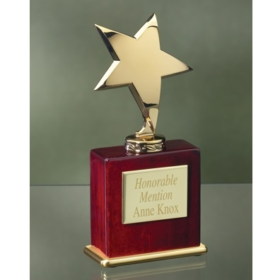 Engraved Gold Star Award 3495RG