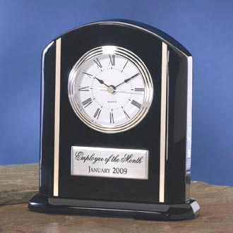 Black and Silver Desk Clock 3649BC