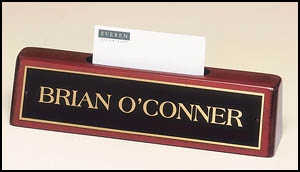 Engraved Business Card Holder With Name Plate 541