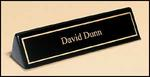 Engraved Black Piano Finished Name Plate With Gold Trim 556