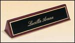 Engraved Rosewood Piano Finished Name Plate With Gold Trim