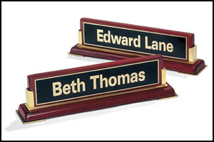 Engraved Executive Rosewood Desktop Nameplate 588