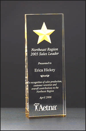 Engraved Acrylic Star Award A6595