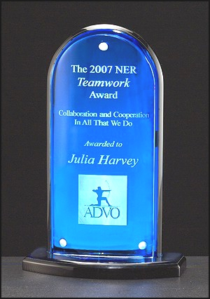 Blue Mirror Acrylic Upright A6600