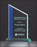 Blue Stripe Jade Acrylic Award A6716