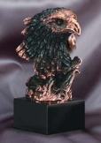 Bronze Eagle Head Sculpture On Black Base AE250