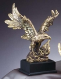 Gold Eagle Statue With American Flag AE700