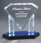 Blue Floating Diamond Acrylic Award AFD10BU