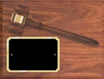 Walnut Finished Gavel Plaque AGP-10