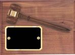 Genuine Walnut Gavel Plaque AGP-20