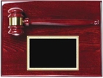 Piano Finished Rosewood Gavel Plaque AGP-30