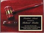 Piano Finished Rosewood Gavel Plaque AGP-40