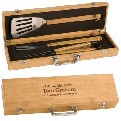 Personalized Bamboo Bbq Set BBQ02