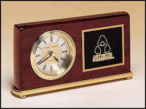 Horizontal Piano Finished Desk Clock BC48
