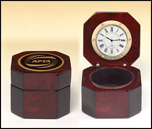 Small Rosewood Box Clock BC521