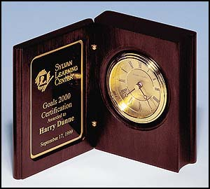 Small Book Clock With Gold-spun Dial BC69
