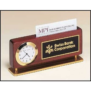 Clock and Business Card Holder BC893