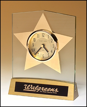 Star Desk Clock Award
