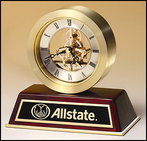 Brushed Gold Aluminum Skeleton Clock BC958