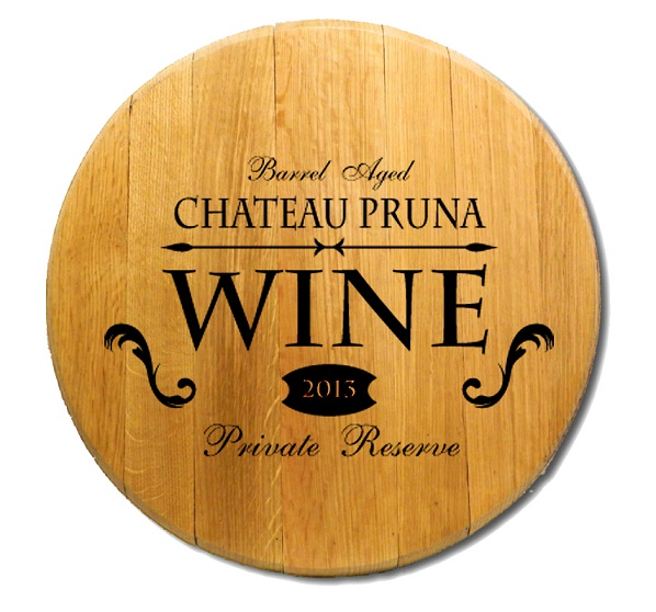 Personalized Private Reserve Wine Barrel Head Sign BH423
