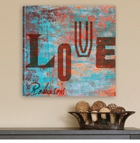 Custom Modern Graffiti Love Canvas Print CA0001