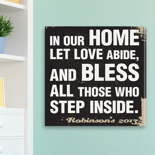 Personalized Family Antiqued Prayer Canvas CA0003
