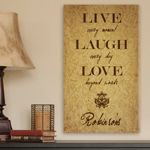 Custom Live Laugh Love Fleur-de-lis Canvas CA0005