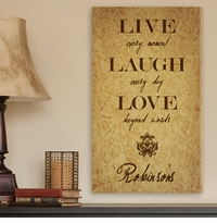 Custom Live Laugh Love Fleur-de-lis Canvas Print CA0005