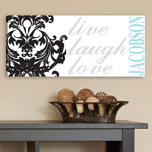 Custom Live Laugh Love Filigree Canvas CA0009