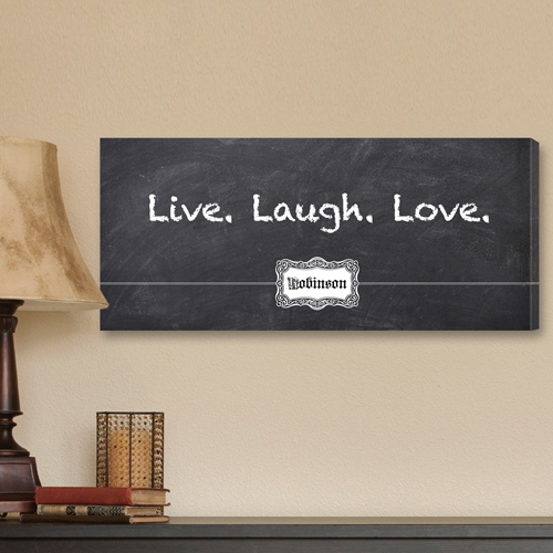 Personalized Chalky Live Laugh Love Canvas CA0012