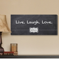 Personalized Chalkboard Live Laugh Love Canvas Print CA0012