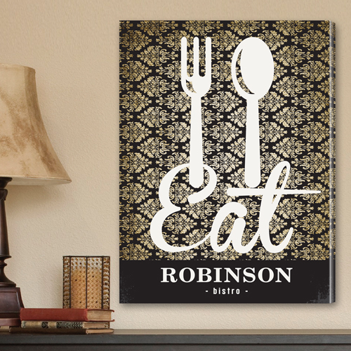 Custom Family Bistro Sign Canvas Print