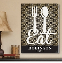 Custom Family Bistro Sign Canvas Print CA0014