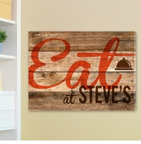 Personalized Rustic Wood Restaurant Sign Canvas Print CA0015