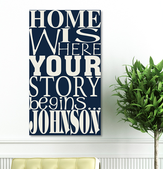 Custom Where Our Story Begins Canvas CA0017