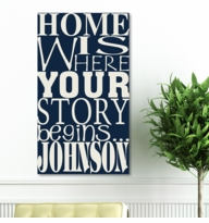 Custom Where Our Story Begins Canvas Print CA0017