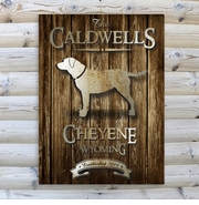 Personalized Rustic Wood Grain Cabin Canvas Print