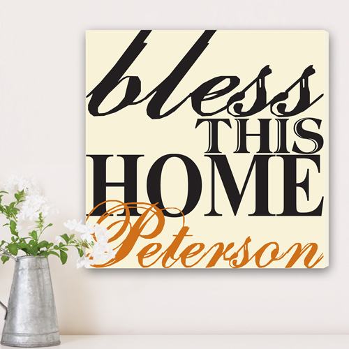 Personalized Bless This Home Canvas CA0023