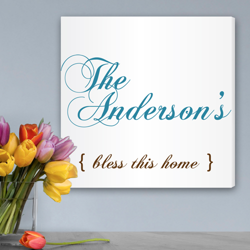 Personalized Bless This Home Canvas Print CA0025